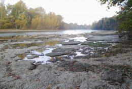 Étiage de la Garonne à Saubens
